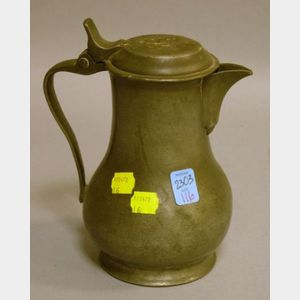French Pewter Hot Water Jug