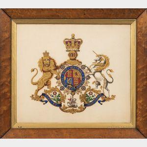 British School, 19th Century      British Royal Coat of Arms