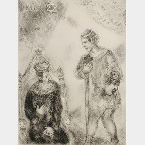 Marc Chagall (Russian/French, 1887-1985)      David, portant la tête de Goliath