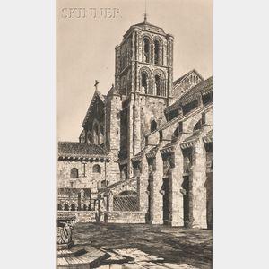 John Taylor Arms (American, 1887-1953)      Basilica of the Madeleine, Vézelay