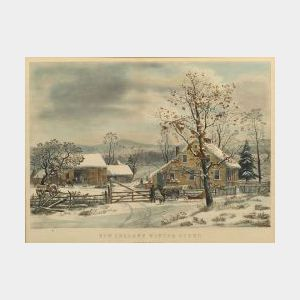 Currier & Ives, publishers (American, 1857-1907)  NEW ENGLAND WINTER SCENE.