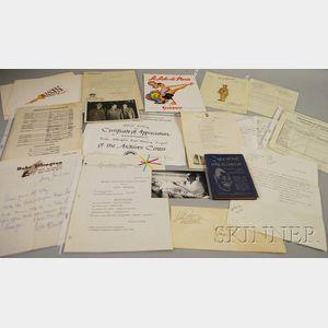 Duke Ellington and Al Celley Related Ephemera and Correspondence