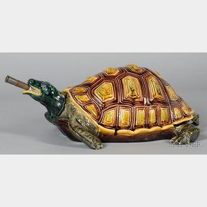 Sarreguemines Majolica Turtle-form Lavabo