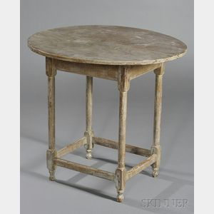 Paint-decorated Maple and Pine Tea Table