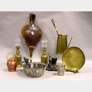 Nine Assorted Decorative Domestic and Hearth Items