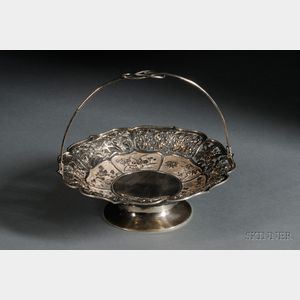 Chinese Export Silver Basket