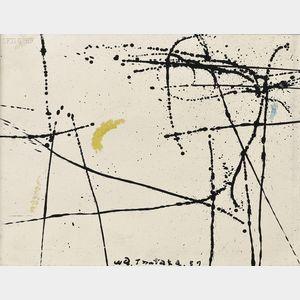 Waichi Tsutaka (Japanese, 1911-1995)      Abstract Composition