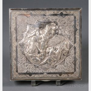 Central Asian Export Silver Covered Box