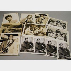 Fourteen Duke Ellington and Orchestra Members Publicity Portrait Photographs