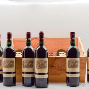 Chateau Lafite Rothschild 1989, 12 bottles (owc)