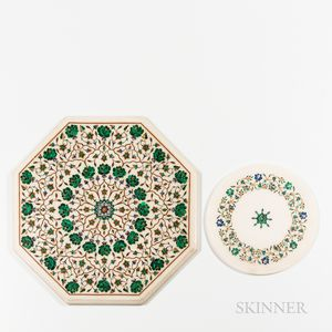 Two Inlaid Marble Trays