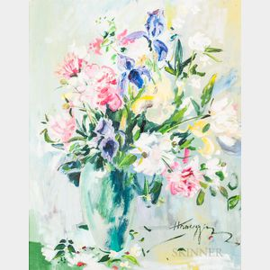 John Hansegger (American, 1908-1989)      Floral Bouquet