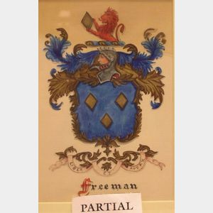 Three Framed Heraldic Crests.