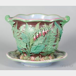 Minton Earthenware Jardiniere and Stand