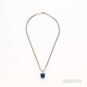 14kt Gold, Tanzanite, and Diamond Pendant