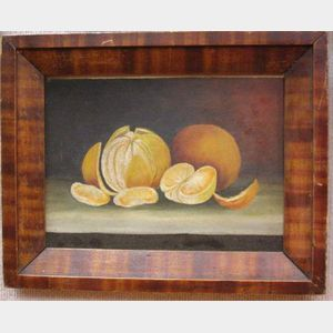 Framed Oil on Panel Still Life of Oranges