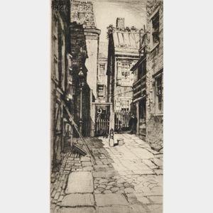 Samuel V. Chamberlain (American, 1895-1975)      Boston Courtyard