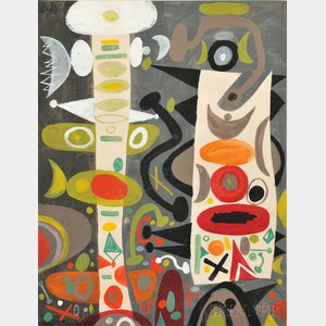 Byron (George Byron) Browne (American, 1907-1961)      Abstract Composition