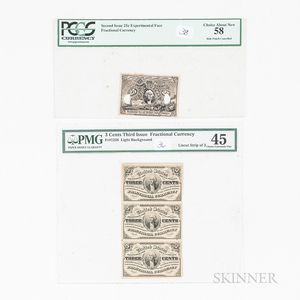 Two Fractional Currency Items