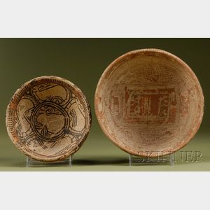 Two Pre-Columbian Polychrome Pottery Bowls