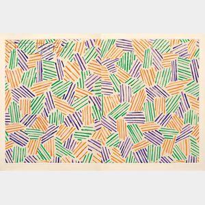 Sold for: $20,145 - Jasper Johns, illustrator (American, b. 1930)      Foirades/Fizzles