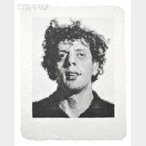 Sold for: $60,000 - Chuck Close (American, b. 1940)      Phil I (White)
