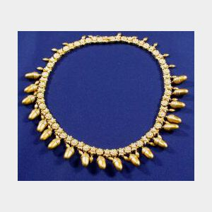 Revival-Style 18kt Gold Necklace