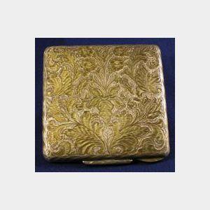 Silver Gilt Powder Case, Gucci