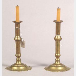 Pair of Early Georgian Tapersticks