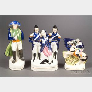 Three Small Staffordshire Character Figures