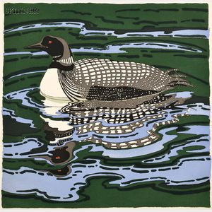 Neil Welliver (American, 1929-2005)      Loon