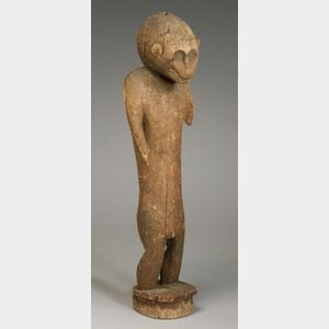 African Carved Wood Monkey