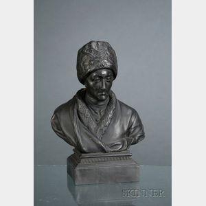 Wedgwood Black Basalt Bust of Rousseau