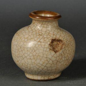 Ge Ware Glazed Miniature Jar