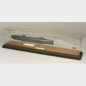 Model of Confederate Submarine CSS H. L. Hunley