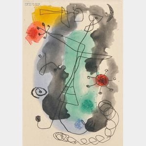Joan Miró (Spanish, 1893-1983)      Femme en colère
