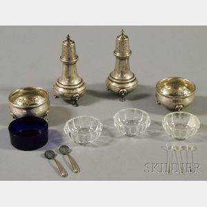 Set of Four Sterling Silver Salts