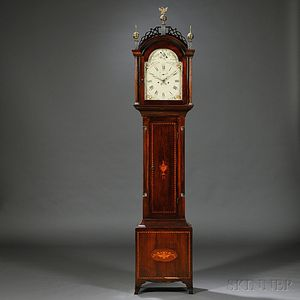 Federal Mahogany-stained Pine Tall Clock