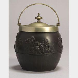 Wedgwood Black Basalt Biscuit Jar