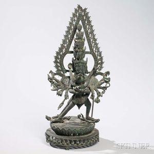 Bronze Figure of Chakrasamvara with His Consort