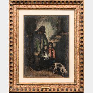 Eugene Higgins (American, 1874-1958)      After Dark