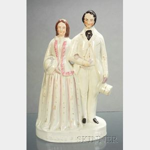 Staffordshire Prince and Princess of Wales Figural Group