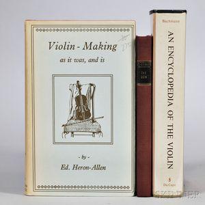 Three Violin-related Books