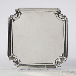George V Sterling Silver Tray