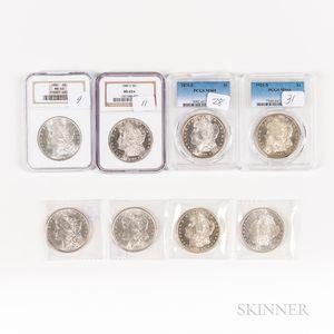 Eight Morgan Dollars