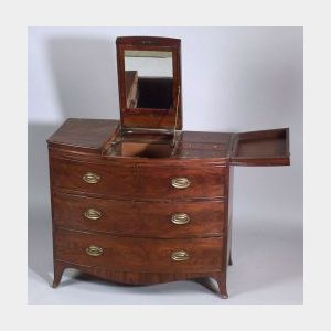 English Regency Mahogany Gentleman's Dressing Chest