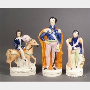 Three Staffordshire Royalty Figures