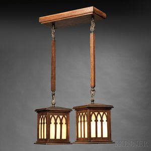 Arts & Crafts Dual-lantern Chandelier