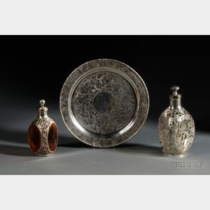 Three Chinese Export Silver Table Articles