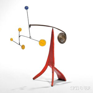 Sold for: $471,000 - Alexander Calder (American, 1898-1976)      Untitled (Standing Mobile, c. 1965)